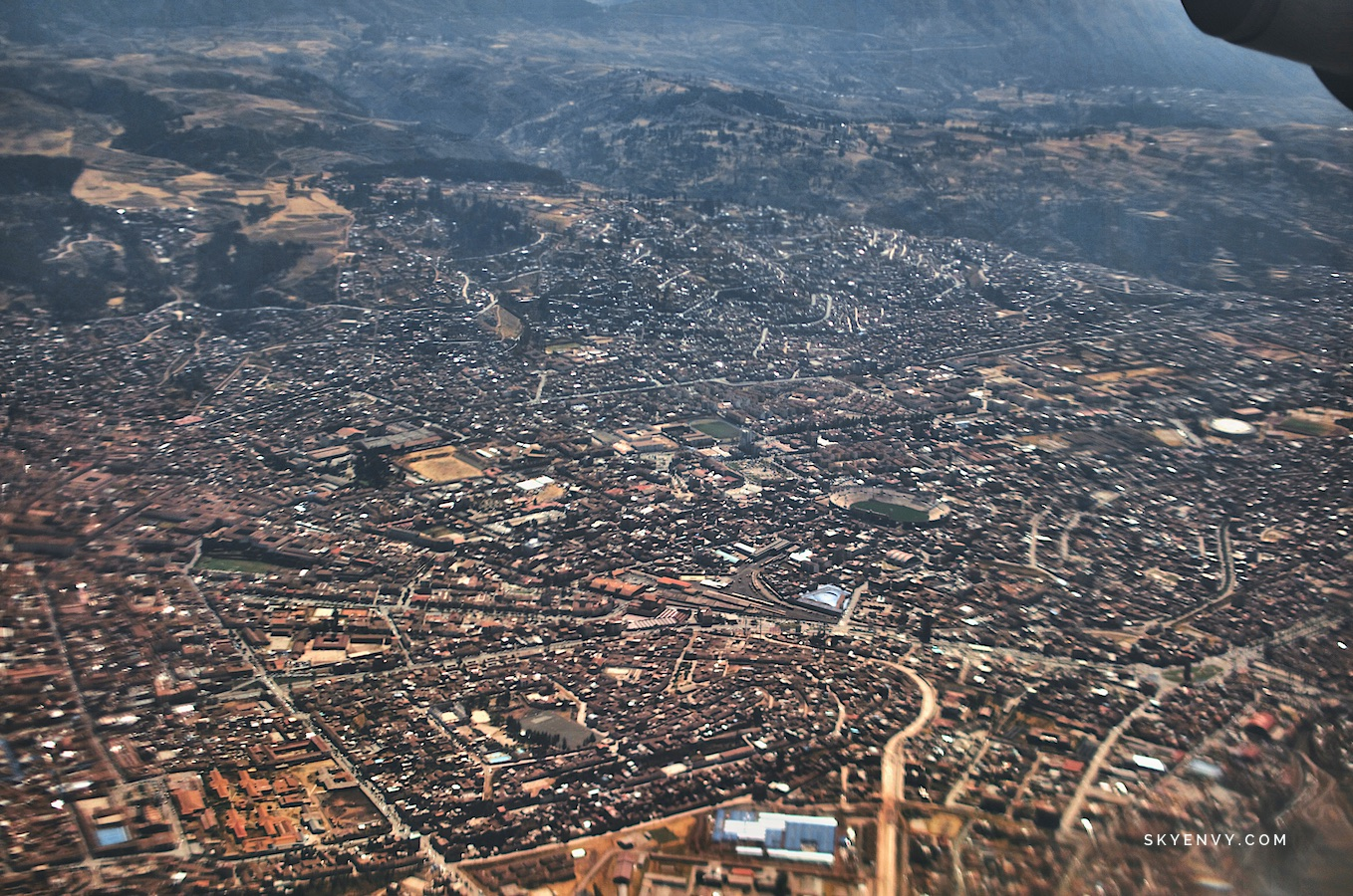 Cusco plane view