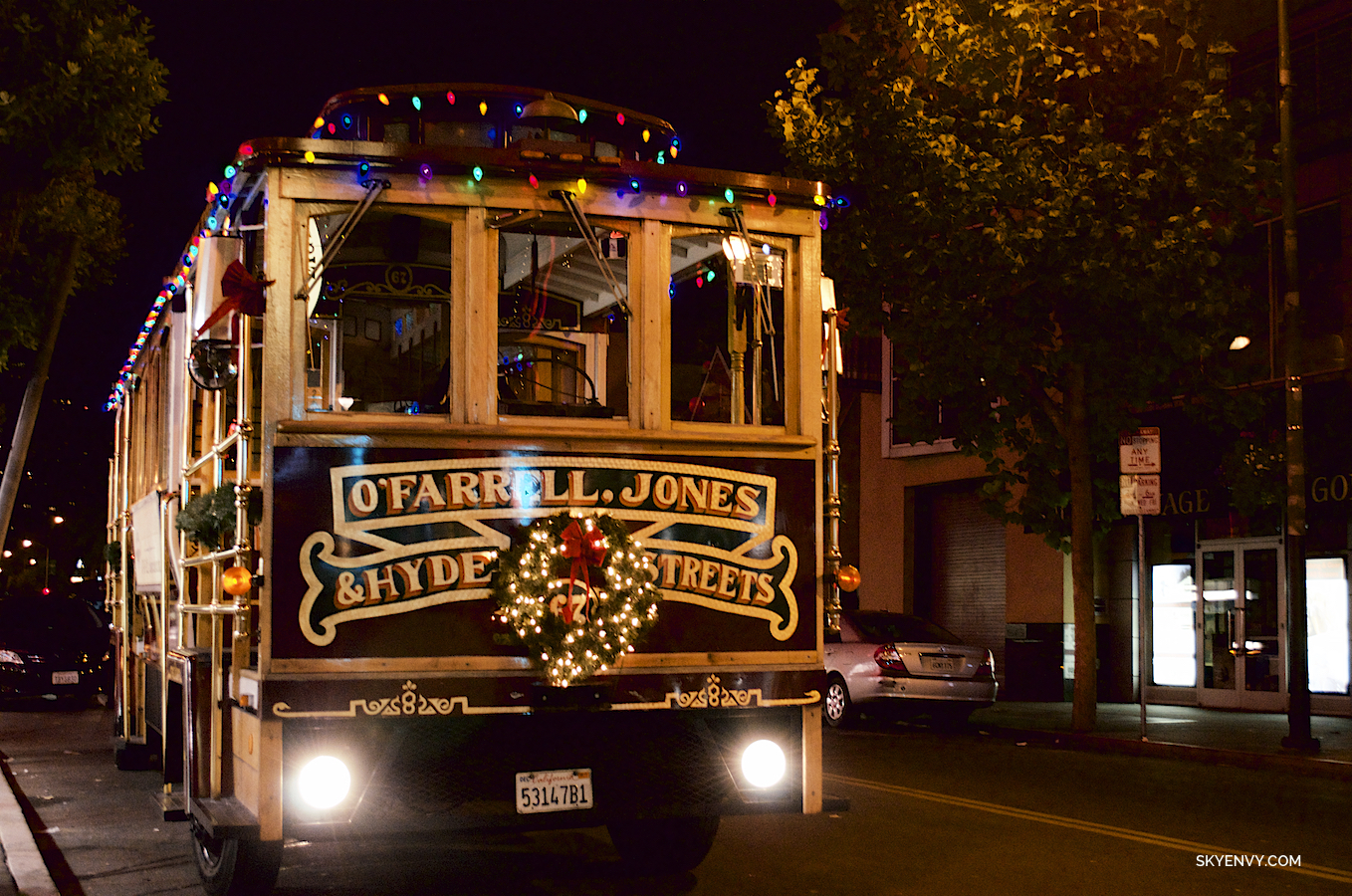 Christmas San Francisco Trolley