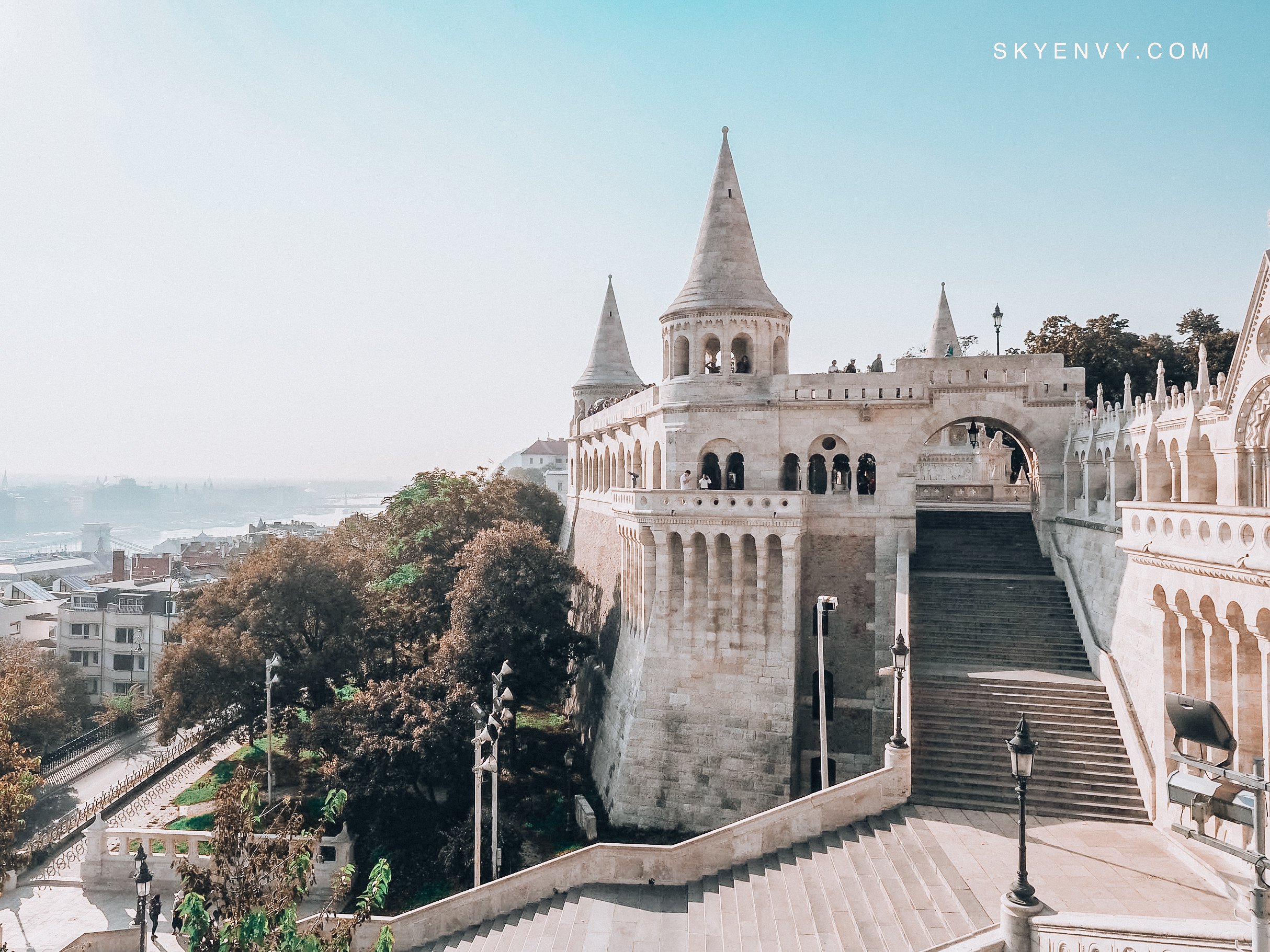 Fisherman's Bastion; Budapest; Hungary; Central Europe; Fairytale; Castle; Sky Envy; Blue Sky; Early Morning